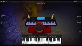 Deja vu por: Initial D em um piano ROBLOX.