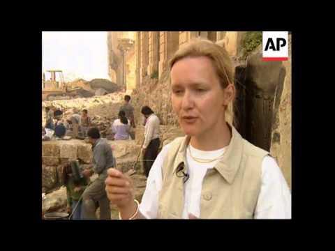 LEBANON: BEIRUT: ARCHAEOLOGISTS STUDY ANCIENT RUINS
