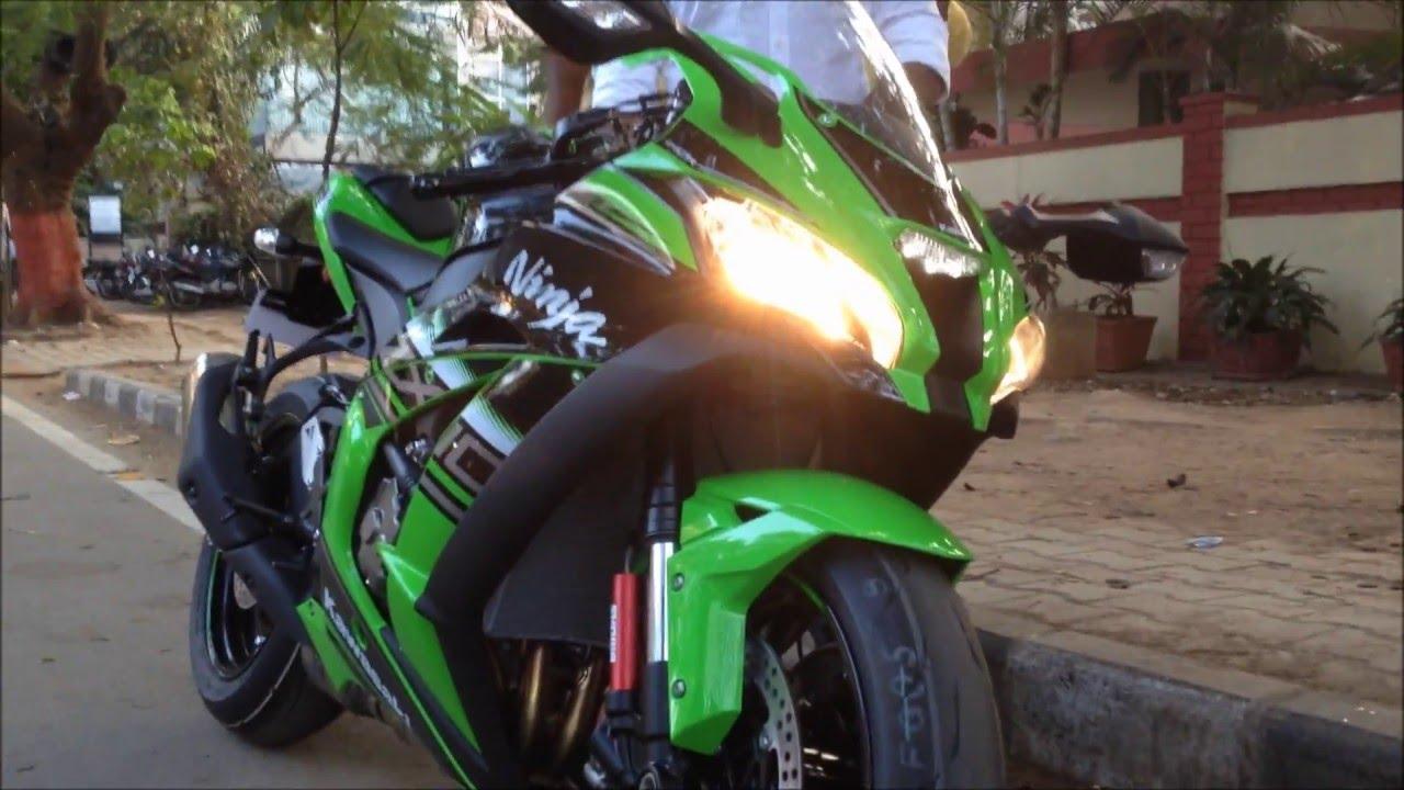 2016 Kawasaki Ninja Zx 10r Stock Exhaust Sound Walkaround Youtube