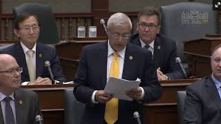 MPP Fedeli reads petition on hunting and fishing licences Sept. 12, 2017
