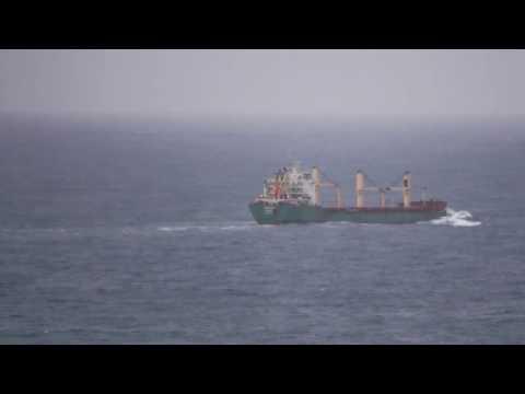650 Foot Ships Crossing The Columbia River Bar