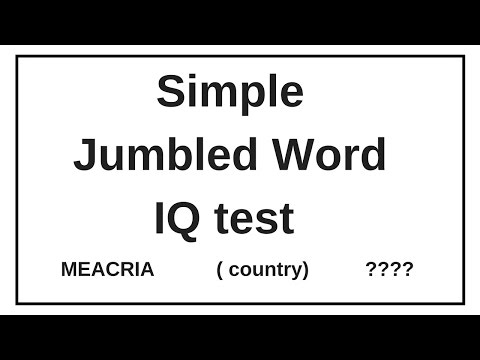 Simple Jumbled Word test  || IQ test: Verbal Reasoning || Guess The word?