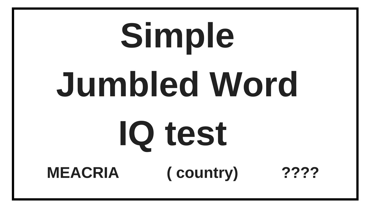 simple jumbled word test iq test verbal reasoning guess the word youtube