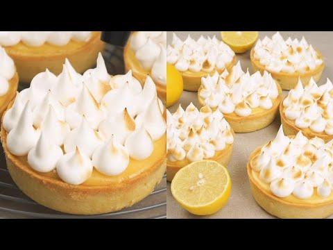 Lemon meringue tartlets fresh and delicious