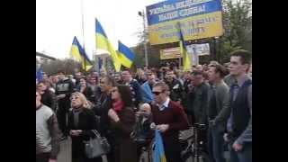 Краматорск за Украину 3(Краматорск, Донецкая область. 17 апреля в городе прошел общественный сход граждан под девизом