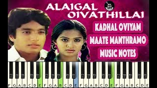 (Ilayaraja) Kadal Oviyam - Maathe Manthramo - Piano Notes - MIDI - Sheet Music