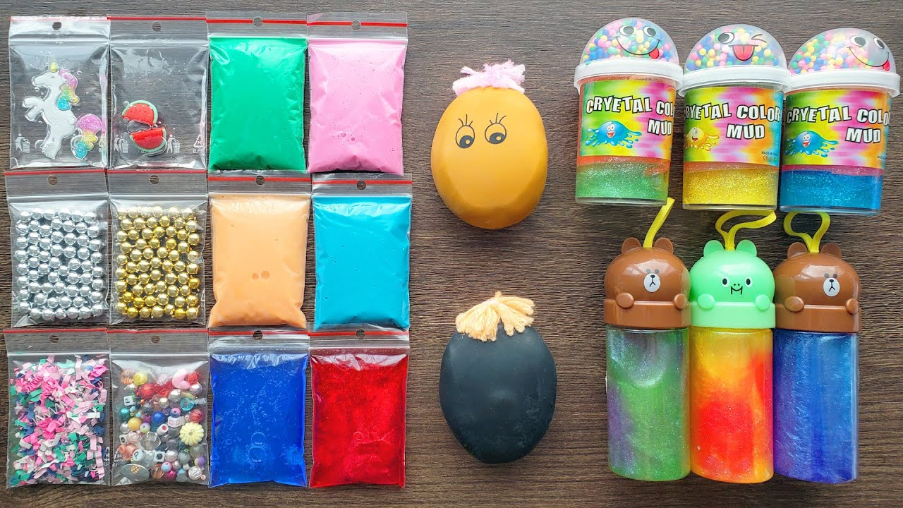 Making Slime with Bags and Store Bought Slimes and Anti-Stress Balls