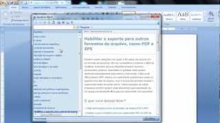 Como salvar no formato PDF utilizando Word 2007 thumbnail