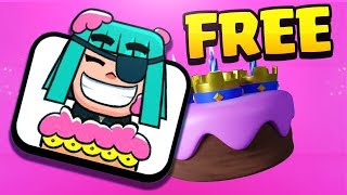Want a FREE birthday emote in Clash Royale? Watch this!