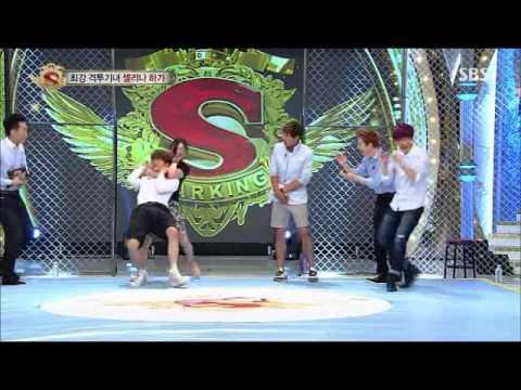 130713 스타!킹 Star! King EXO Baekhyun Kai Wrestling CUT