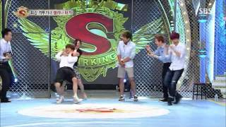 130713 스타!킹 Star! King EXO Baekhyun Kai Wrestling CUT