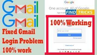 ✅ Gmail Tricks: How to fixed Gmail Login problem | Gmail Sign-In Problem | Google Issue