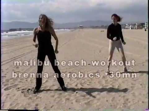 malibu beach workout- 30mn brenna 1 cardio dance at marina del rey beach