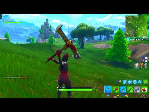 *NEW* AXECALIBUR FORTNITE PICKAXE SOUND EFFECTS AND GAMEPLAY! @LYCANPHILLY
