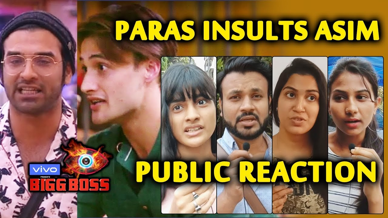 Bigg Boss 13 | Public Angry On Paras For INSULTING Comment On Asim | Public Reaction | BB 13