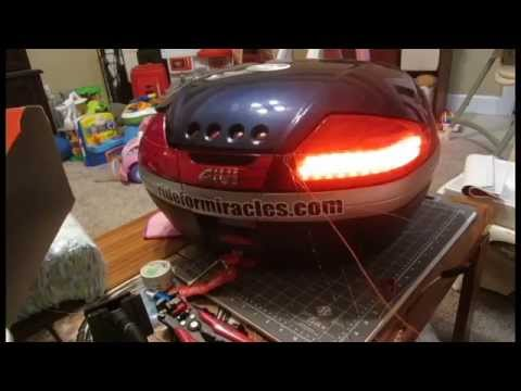 Prototyping Led Tail Lights For Givi V46 Top Case Youtube