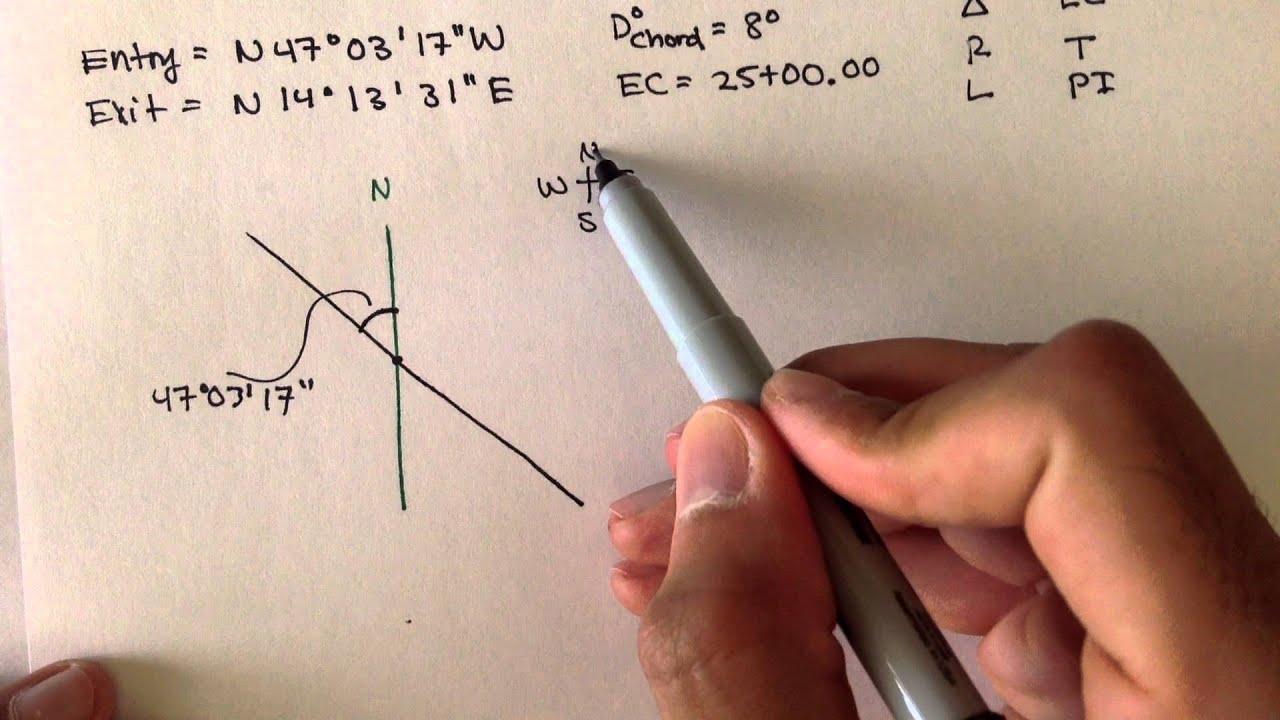 Download Advanced Geomatics: Horizontal Curves: Example 3: Part 1