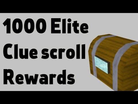Loot from 1000 Elite clue scrolls