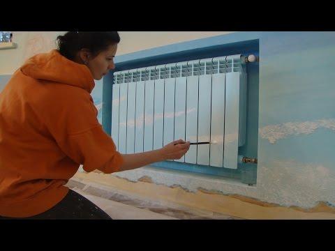 Мастер класс Технология Росписи радиатора отопления* Декор батареи своими руками*