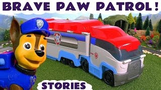 Paw Patrol - Brave Toy Story Episodes for kids with Disney Cars McQueen and Peppa Pig Toys TT4U