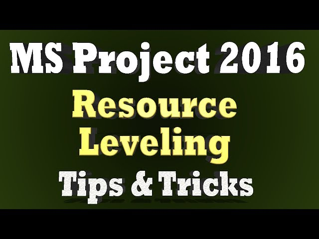 Ms Project Tutorial Series 2018 - Advance Tips & Tricks