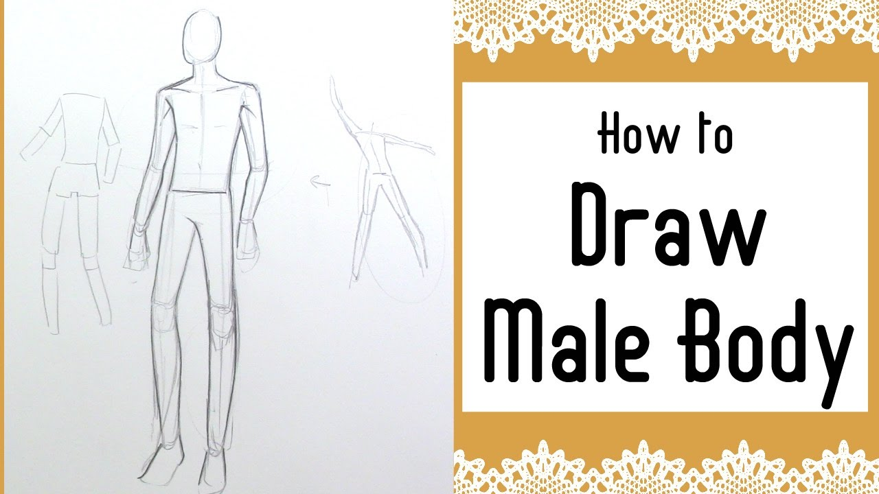 How to draw MALE anatomy!| - YouTube