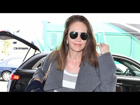 Diane Lane Looking Flawless At 52 While Jetting Out Of LAX