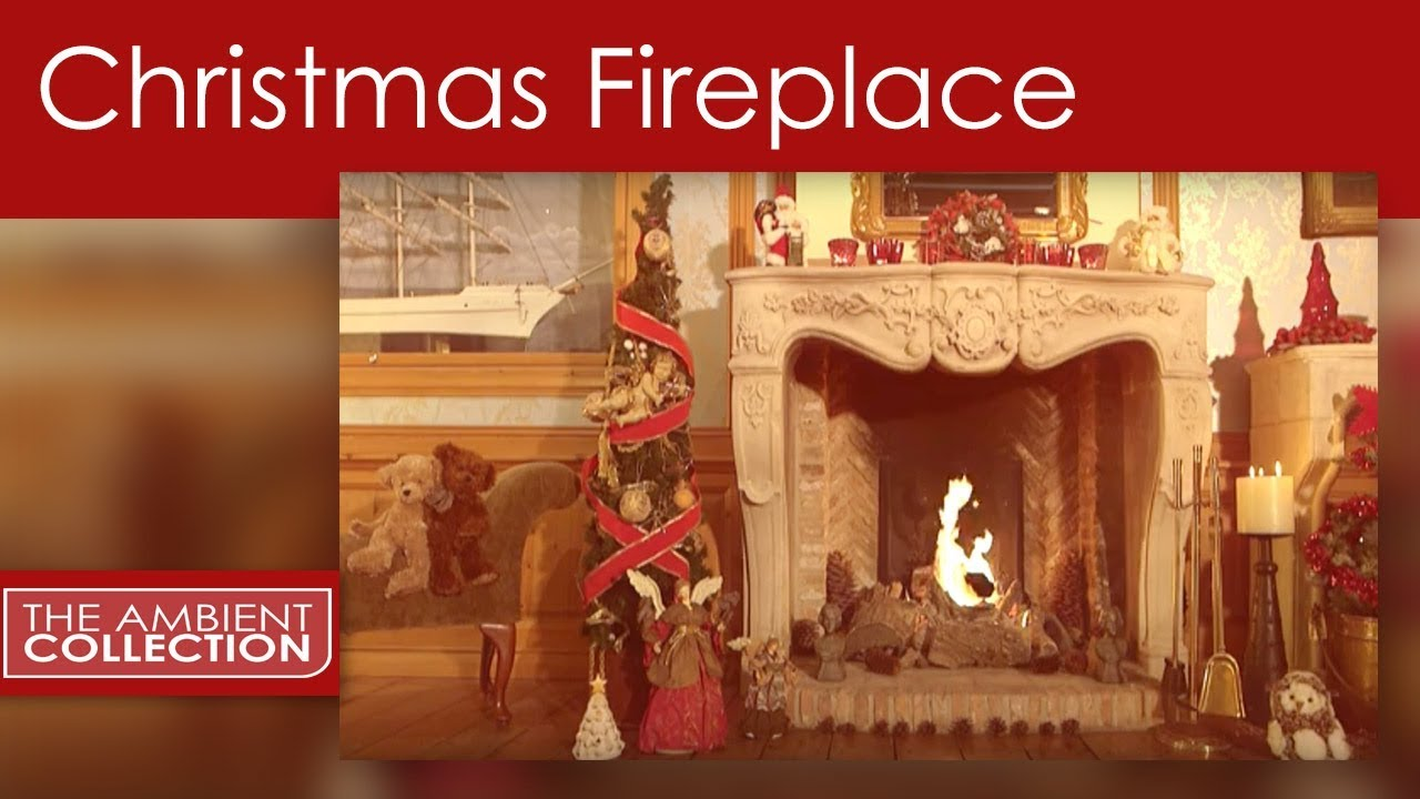 cozy fireplace for christmas with crackling sounds youtube