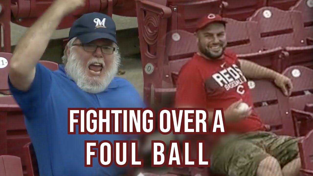 Blue Santa gets mad when Red Shirt gets the foul ball, a breakdown