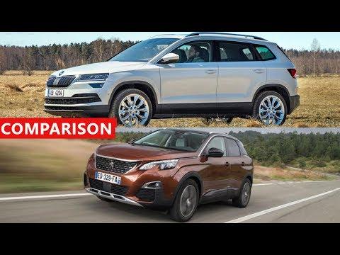 2017 SKODA KAROQ vs 2017 Peugeot 3008 SUV Comparison - INTERIOR, EXTERIOR, TEST DRIVE