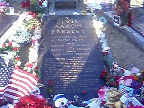 Walk Through Elvis Presley And Familys Grave Site At Meditation