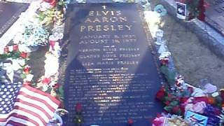 Walk through Elvis Presley and family's grave site @ Meditation Garden