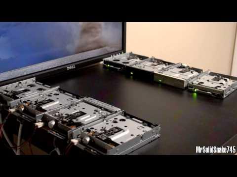 Darude - Sandstorm on Eight Floppy Drives