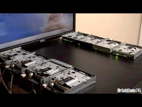 Darude - Sandstorm On Eight Floppy Drives