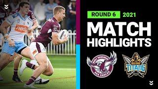 Sea Eagles v Titans Match Highlights   Round 6, 2021   Telstra Premiership   NRL
