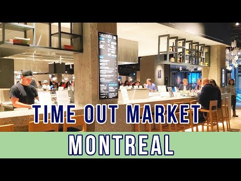 TimeOut Market Montréal - The Best Gourmet Food Court in Downtown Montreal, Eaton Center 2020