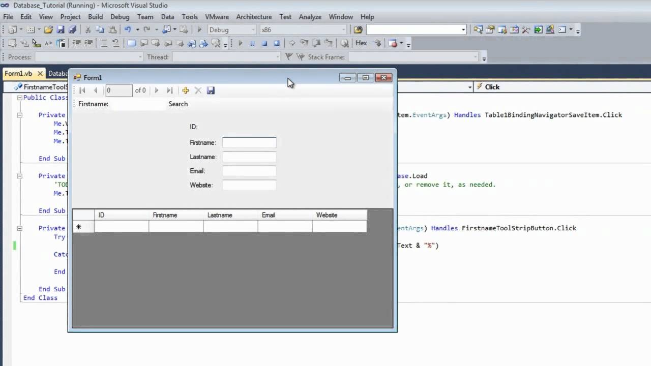 Search Button for Database in Visual basic 2010