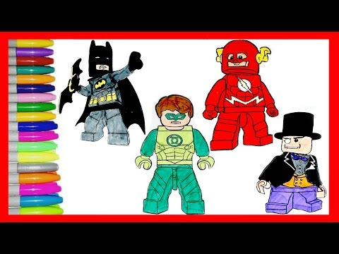 Lego Superhero Ninjajo Coloring pages.Your favourite Lego superheros BATMAN,FLASH,GREEN LANTERN+MORE