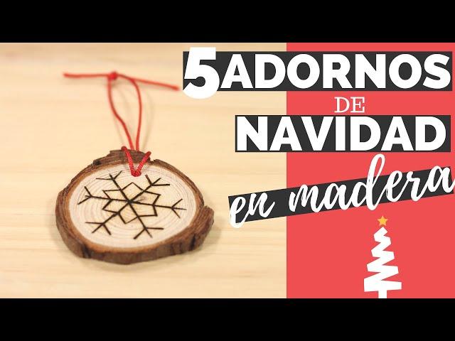 5 ADORNOS de NAVIDAD en madera | 🎄 DIY