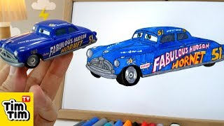 How to draw CARS 3 - DOC HUDSON   Easy step-by-step for kids   Art colors