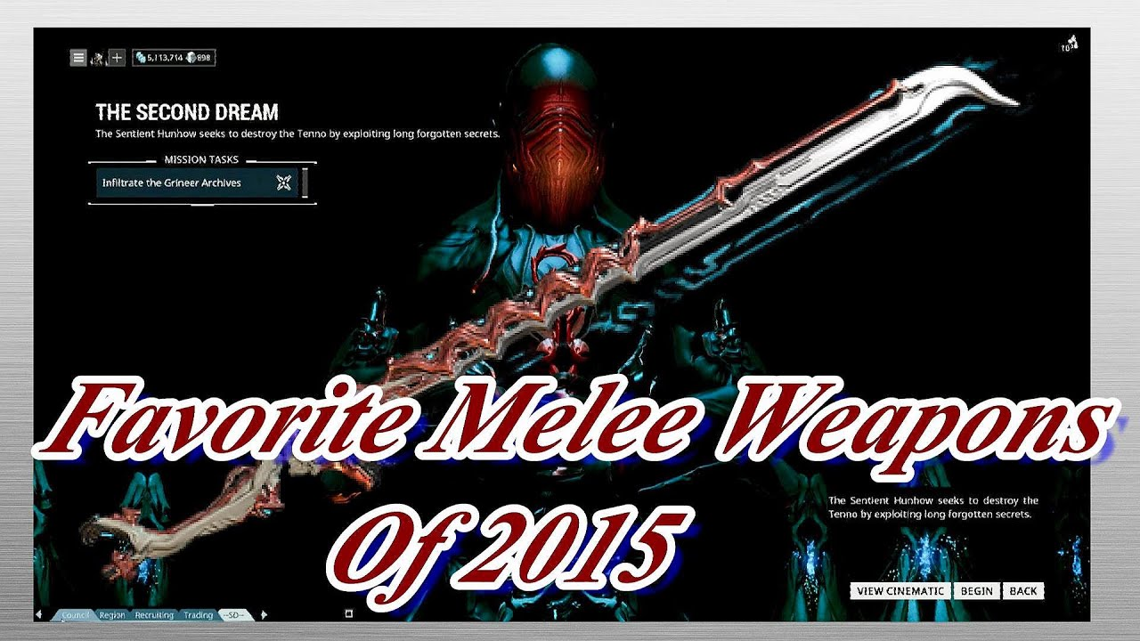 Warframe best weapons 2015 - Warframe Favorite Melee Weapons Of 2015