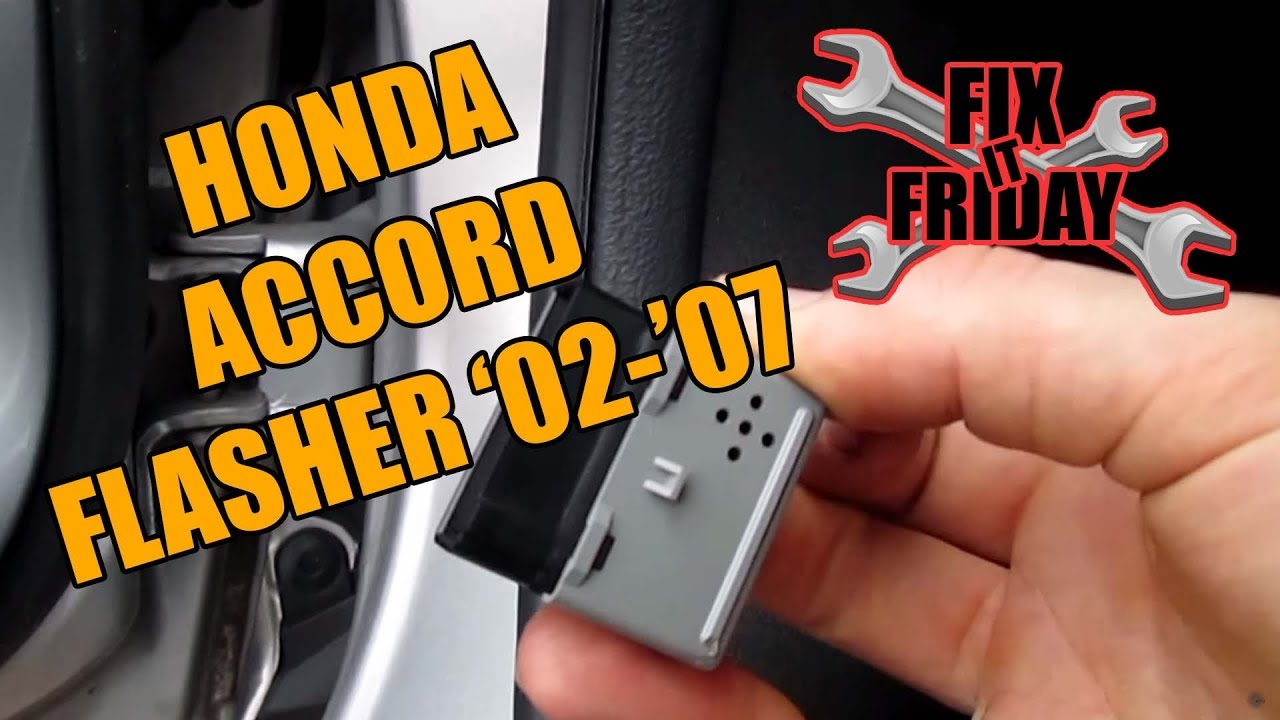 how to change honda accord turn signal flasher blinker relay replacement 2002 2007 [ 1280 x 720 Pixel ]
