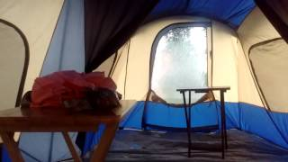 Braving a Florida Thunderstorm in an Ozark Trail 14 Person Base Camp Cabin Tent