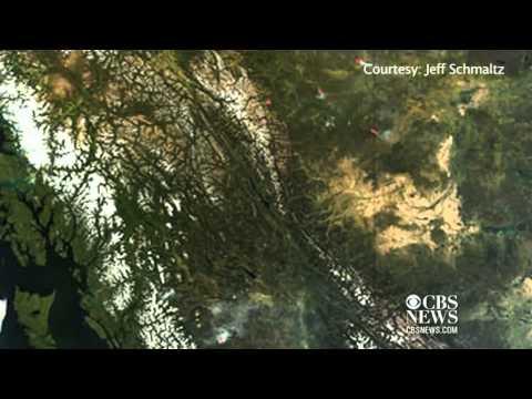 NASA image shows change of seasons in Canada