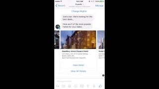 Expedia bot for Facebook Messenger
