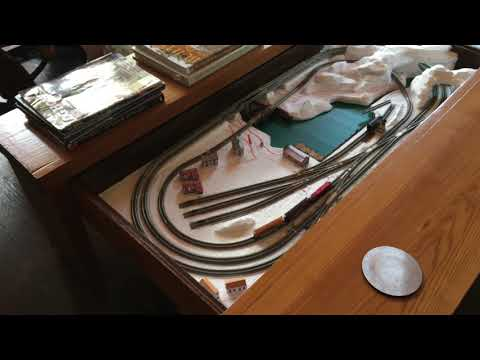 Z scale Train layout Coffee Table; A work in Progress