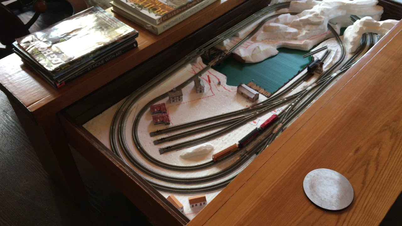Z Scale Train Layout Coffee Table A Work In Progress