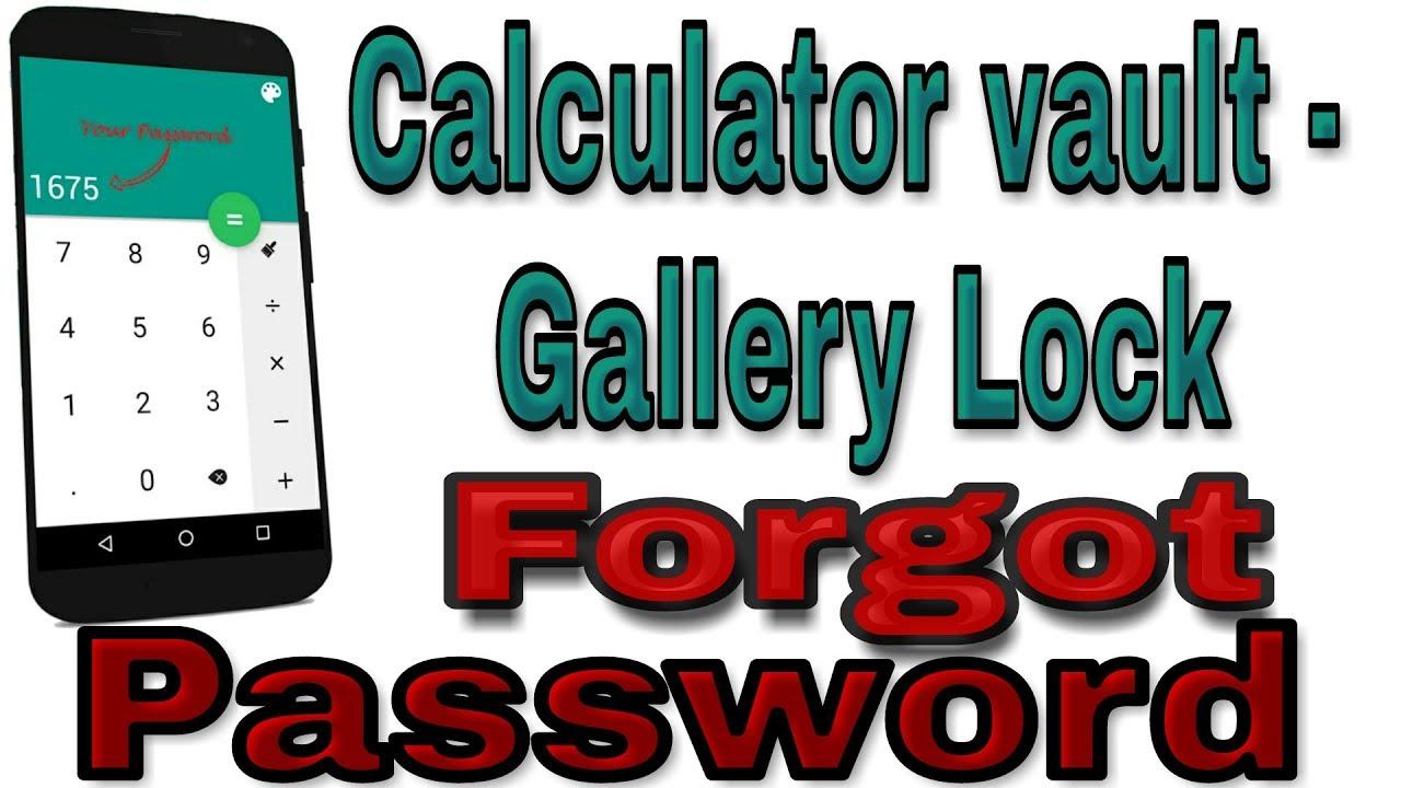 SARA: Photo lock vault calc forgot password