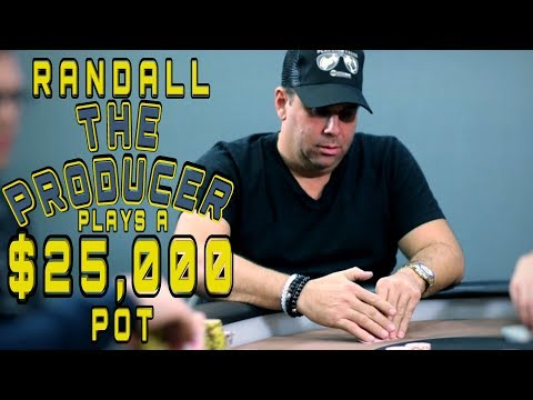 Randall The Producer Plays $25,000 Pot At $5$5$10 ♠ Live at the Bike!