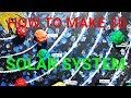 How To Make Simple Solar System 3D Model For Kids Ll Solar System 3D Model Kaise Banaye L By Nilesh